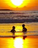 sunset kąpielowy. Zdjęcia Royalty Free