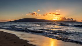 Sunset at Kaanapali beach. Maui, Hawaii stock image
