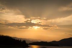Sunset. At Kaeng Krachan. Thailand Stock Photos