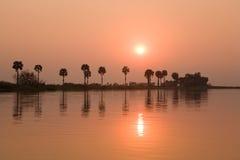 Sunset Kafuie river Stock Photo