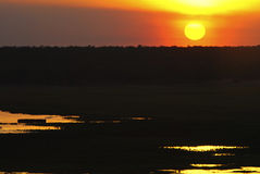 Sunset on Kakadu National Park wetland Royalty Free Stock Images