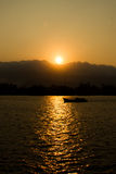 Sunset in Kampot, Cambodia Stock Images