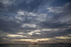 Sunset blue sky karimun jawa. Sunset in the karimun jawa island - indonesia Royalty Free Stock Photos