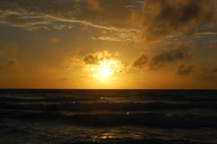 Sunset on the Karon beach Stock Image