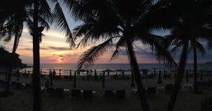 Sunset at Karon Beach Stock Images