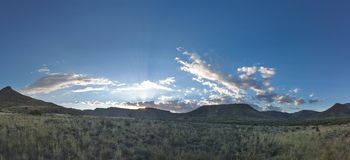 Sunset in Karoo NP Royalty Free Stock Photo