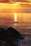 Sunset kayaking Stock Images