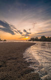 Sunset Kelanang beach. Recreation area near morib this kelanang beach popular for photographer when sunset is very beautiful stock photography