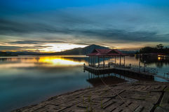 Sunset at Kenyir lake Stock Photos