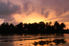 Sunset in Kerala, India Royalty Free Stock Photo