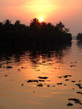 Sunset in Kerala Royalty Free Stock Photo