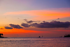 Sunset in Key West. Beautiful sunset in Key West with ocean view royalty free stock photography