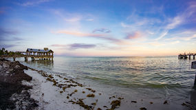 Sunset at Key West. Key West Beach During Sunset Royalty Free Stock Photo