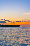 Sunset in Key West Royalty Free Stock Photography