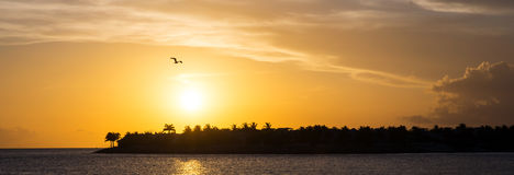 Sunset. In Key West, Florida Royalty Free Stock Image