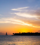 Sunset. In Key West, Florida Royalty Free Stock Photos
