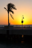 Sunset at Key West, Florida. Royalty Free Stock Photos