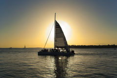 Sunset in Key West, Florida Stock Photography