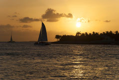 Sunset in Key West, Florida Royalty Free Stock Photography
