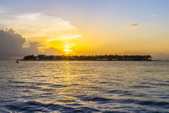 Sunset at Key West. At Mallory sunset point Royalty Free Stock Photos