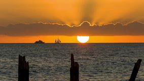 Sunset at Key West. Sunset over the sea at Key West, Florida stock footage