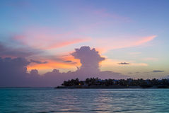 Sunset at Key West. Seen from most famous Mallory Square Stock Photography