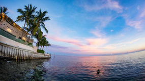 Sunset at Key West. Southernmost Point at Key West During Sunset Royalty Free Stock Photography