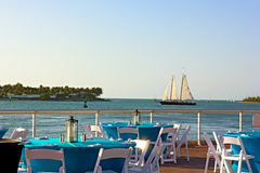 Sunset at Key West waterfront. Royalty Free Stock Photos