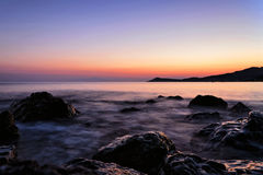 Sunset in Khalkidiki. This photo was made in the Greece in 2016 Stock Image