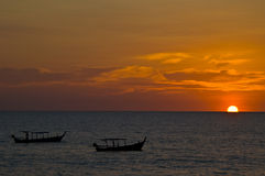 Sunset in Khao Lak Royalty Free Stock Photography