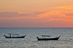 Sunset in Khao Lak Stock Photo