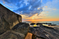 SUNSET AT KHAO LAK BEACH,Phang Nga Province,southern Thailand. Popular for its serene ambiance Royalty Free Stock Images
