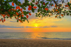 Sunset at Khao Lak beach,Phang Nga Province,southern Thailand. Popular for its serene ambiance Royalty Free Stock Image