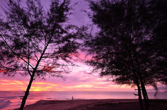 Sunset at Khao Lak beach Royalty Free Stock Image