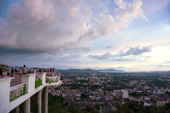Sunset of Khao Rang Hill, Phuket Royalty Free Stock Images