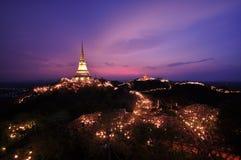 Sunset at the Khao wung palace Royalty Free Stock Image