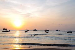 Sunset of Kho Tao Royalty Free Stock Images