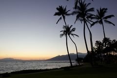 Sunset in Kihei Stock Photo