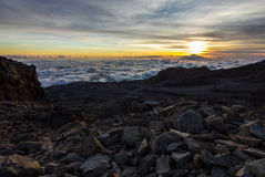 Sunset Kilimanjaro Peak Royalty Free Stock Images