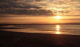 Sunset on Killala bay  sligo. Royalty Free Stock Photo