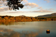 Sunset killarney. Sunset by the lake in killarney Royalty Free Stock Photography