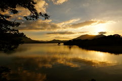 Sunset killarney. Sunset by the lake in killarney Stock Photography