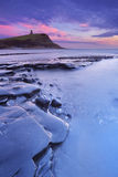 Sunset at Kimmeridge Bay in southern England Royalty Free Stock Photos
