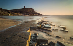 Sunset at Kimmeridge Stock Images