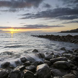 Sunset at Kimmeridge Stock Photo