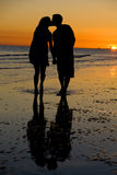 Sunset Kiss Royalty Free Stock Photo