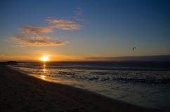 Sunset kitesurf Stock Photography