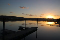 Sunset Knysna Lagoon Royalty Free Stock Images