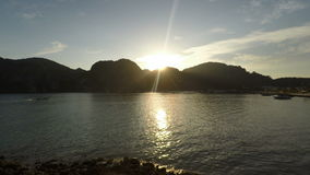 Sunset at ko phi phi in thailand stock video footage