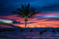 Sunset on Ko Tao Royalty Free Stock Photography